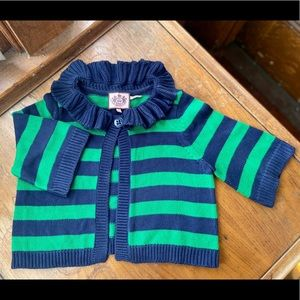 Juicy Couture   Blue & Green Striped Cardigan